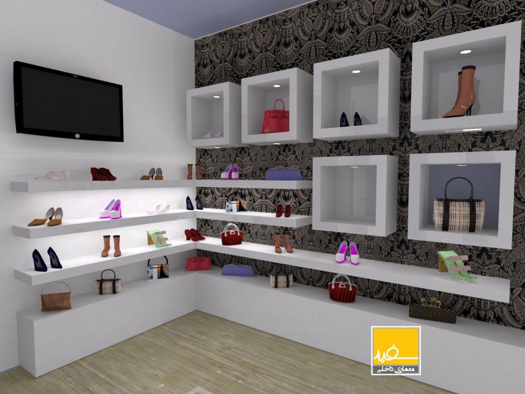 طراحی داخلی فروشگاه بند