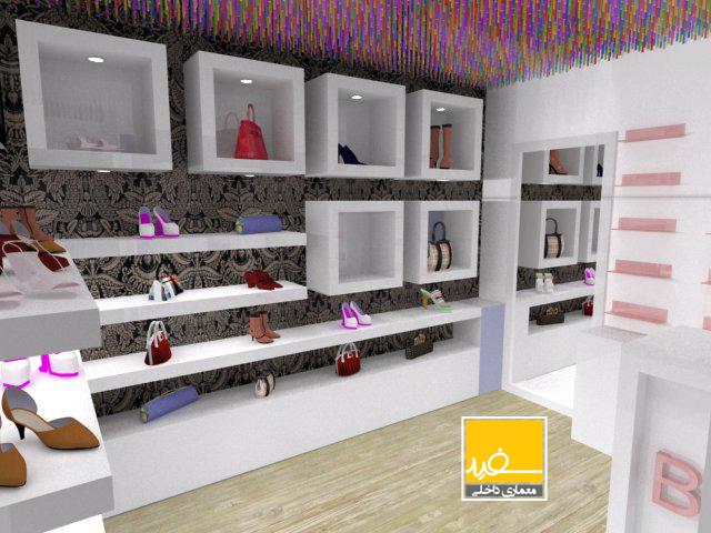 معماری داخلی فروشگاه بند